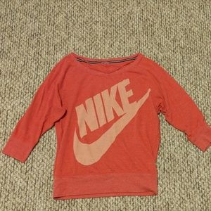 Nike off the shoulder crew